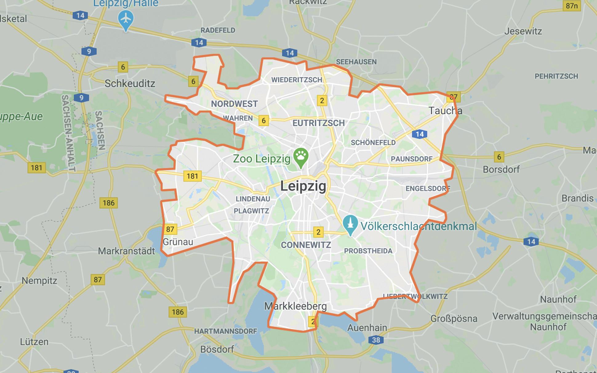 CleverShuttle Orange in Leipzig